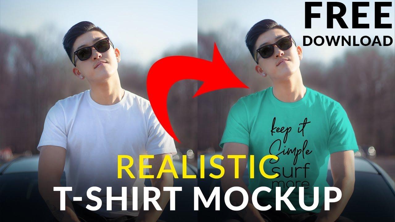 Create Realistic Lifestyle T-shirt Mockup Template